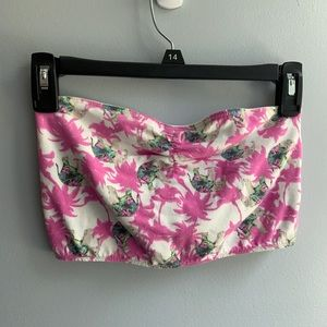 NWOT Elephant & Palm Tree Bandeau Top